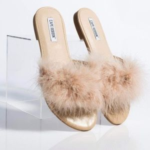 Cape Robbin Feather Slip On Shoes